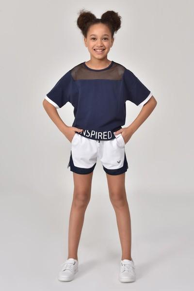 BİLCEE - Bilcee Beyaz Kız Çocuk Şort GS-8198 (1)