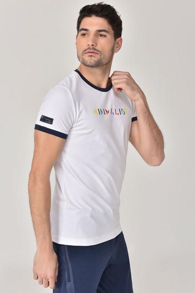 BİLCEE - Bilcee Beyaz Erkek T-shirt GS-8250 (1)