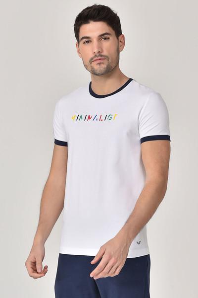 BİLCEE - Bilcee Beyaz Erkek T-shirt GS-8250