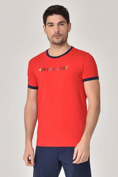 BİLCEE - Bilcee Kırmızı Erkek T-shirt GS-8250