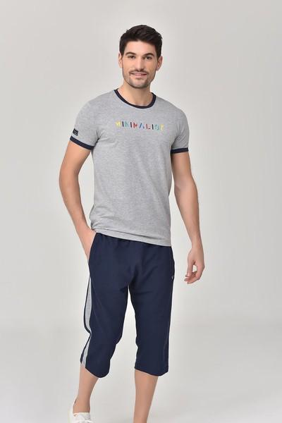 BİLCEE - Bilcee Gri Erkek T-shirt GS-8250