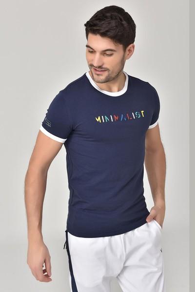 BİLCEE - Bilcee Lacivert Erkek T-shirt GS-8250 (1)