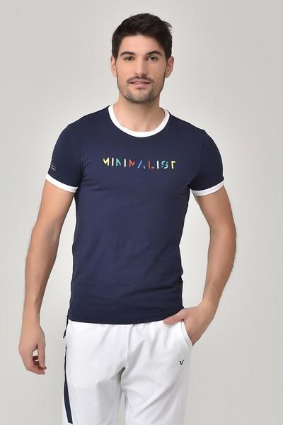 BİLCEE - Bilcee Lacivert Erkek T-shirt GS-8250