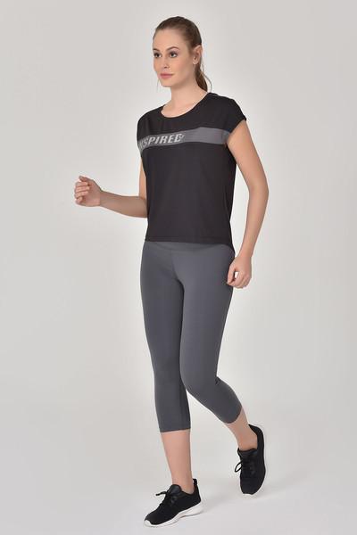 BİLCEE - Bilcee Siyah Kadın Antrenman T-Shirt GS-8603 (1)