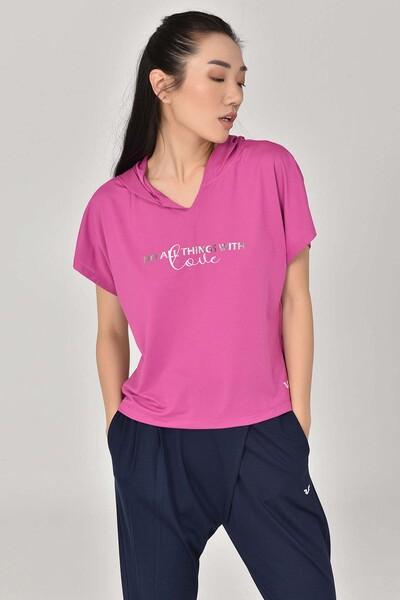 BİLCEE - Bilcee Pembe Kadın T-Shirt GS-8607 (1)