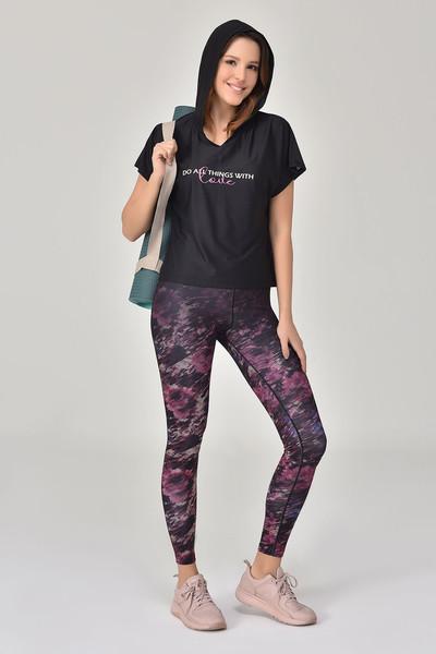 BİLCEE - Bilcee Siyah Kadın T-Shirt GS-8607 (1)