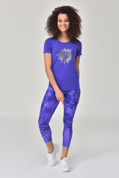 BİLCEE - Bilcee Mavi Kadın T-shirt GS-8613
