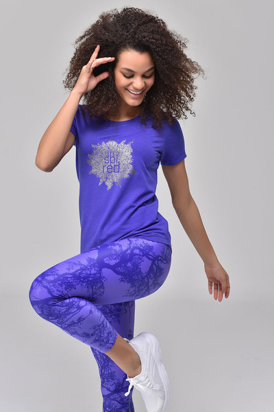 BİLCEE - Bilcee Mavi Kadın T-shirt GS-8613 (1)