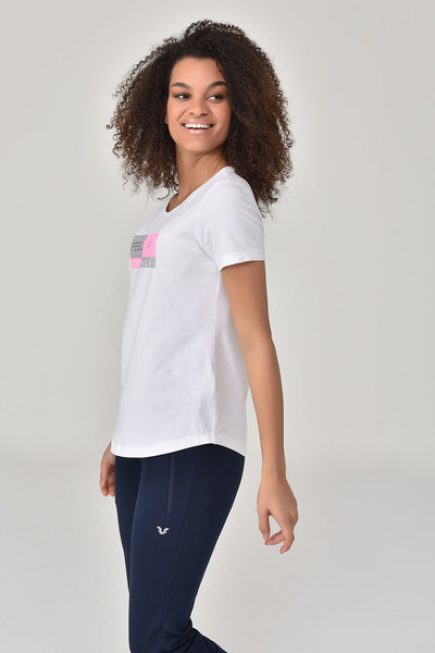 BİLCEE - Bilcee Beyaz Kadın T-shirt GS-8614 (1)
