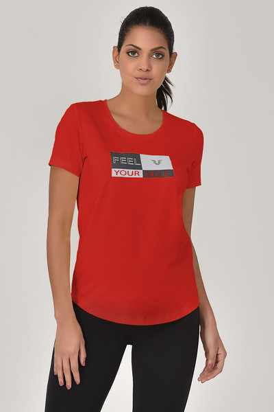 BİLCEE - Bilcee Kırmızı Kadın T-shirt GS-8614