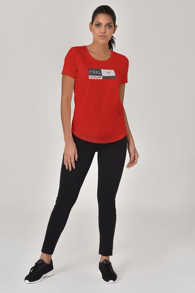 BİLCEE - Bilcee Kırmızı Kadın T-shirt GS-8614 (1)