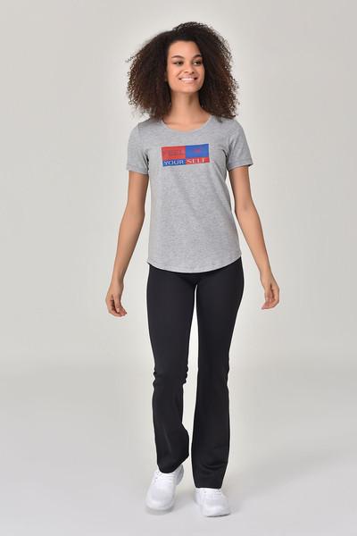 BİLCEE - Bilcee Gri Kadın T-shirt GS-8614 (1)