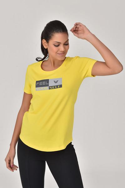BİLCEE - Bilcee Sarı Kadın T-Shirt GS-8614 (1)