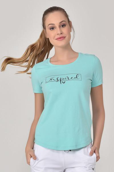 BİLCEE - Bilcee Turkuaz Kadın T-Shirt GS-8615