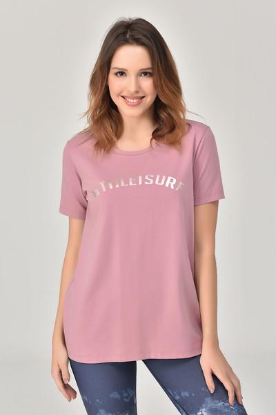 BİLCEE - Bilcee Pembe Kadın T-Shirt GS-8618