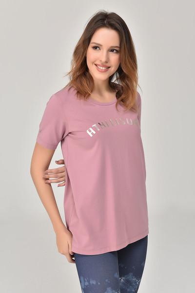 BİLCEE - Bilcee Pembe Kadın T-Shirt GS-8618 (1)