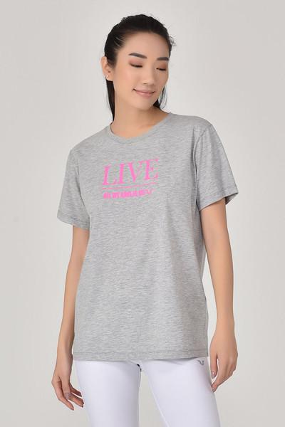 BİLCEE - Bilcee Gri Kadın T-Shirt GS-8620
