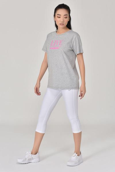 BİLCEE - Bilcee Gri Kadın T-Shirt GS-8620 (1)