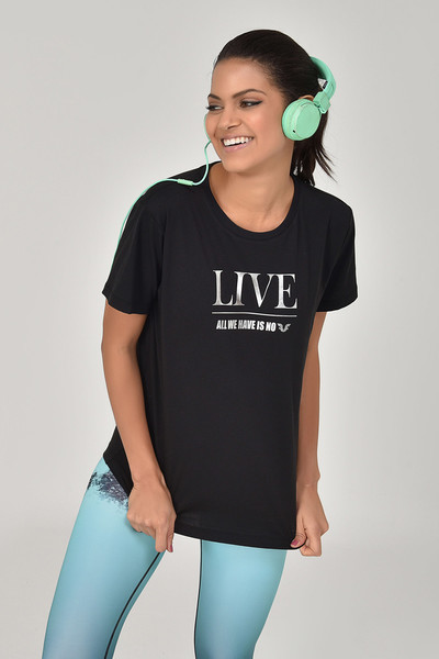 BİLCEE - Bilcee Siyah Kadın T-Shirt GS-8620
