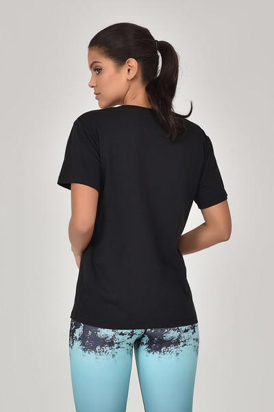 BİLCEE - Bilcee Siyah Kadın T-Shirt GS-8620 (1)