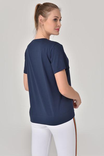BİLCEE - Bilcee Lacivert Kadın T-Shirt GS-8623 (1)