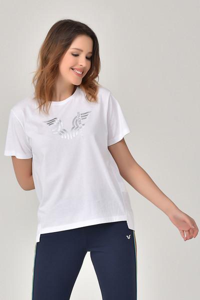 BİLCEE - Bilcee Beyaz Kadın T-Shirt GS-8623