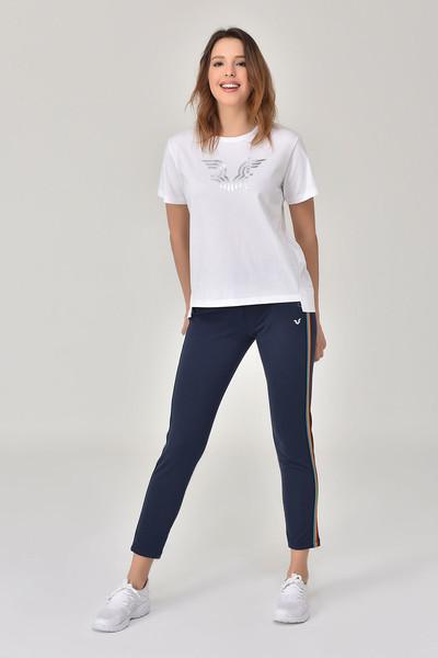 BİLCEE - Bilcee Beyaz Kadın T-Shirt GS-8623 (1)