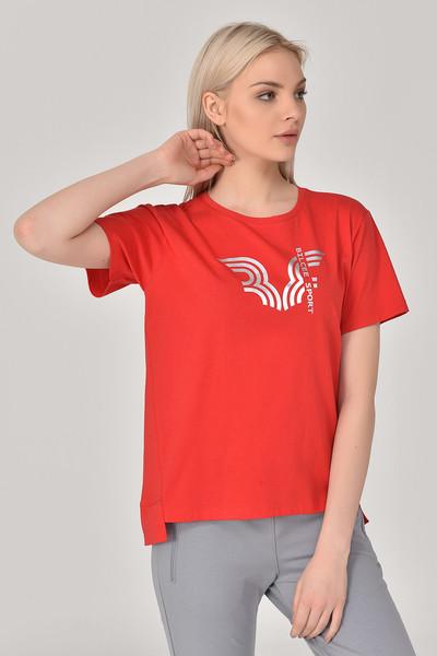 BİLCEE - Bilcee Kırmızı Kadın T-Shirt GS-8623