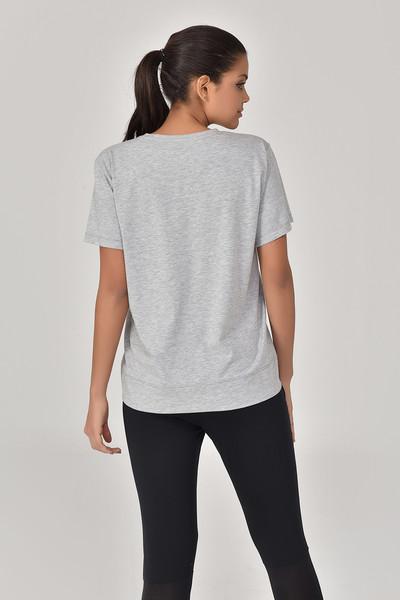 BİLCEE - Bilcee Gri Kadın T-Shirt GS-8623 (1)