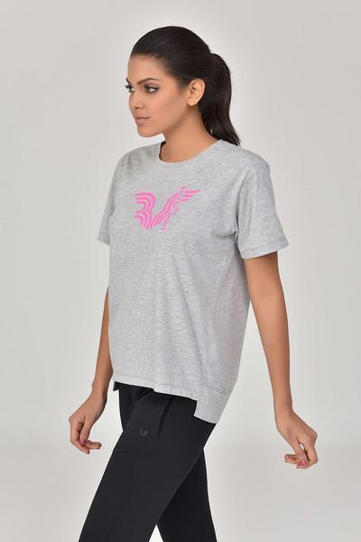 BİLCEE - Bilcee Gri Kadın T-Shirt GS-8623