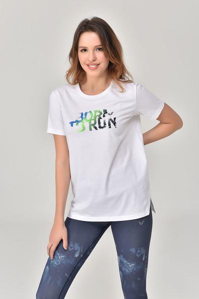 BİLCEE - Bilcee Beyaz Kadın T-Shirt GS-8625