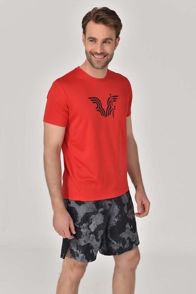BİLCEE - Bilcee Kırmızı Erkek Antrenman T-shirt GS-8800 (1)