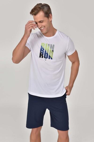 BİLCEE - Bilcee Beyaz Erkek Antrenman T-Shirt GS-8801 (1)