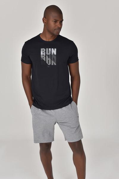 BİLCEE - Bilcee Siyah Erkek T-Shirt GS-8801