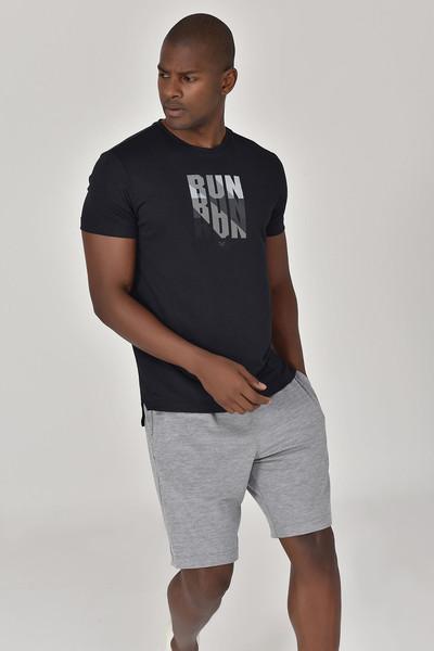 BİLCEE - Bilcee Siyah Erkek Antrenman T-Shirt GS-8801 (1)