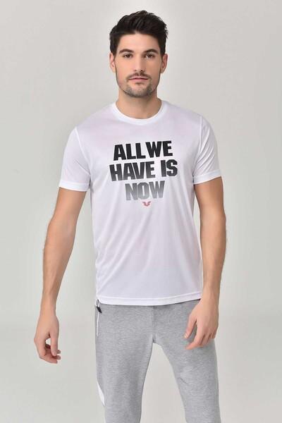 BİLCEE - Bilcee Beyaz Erkek T-Shirt GS-8803 (1)