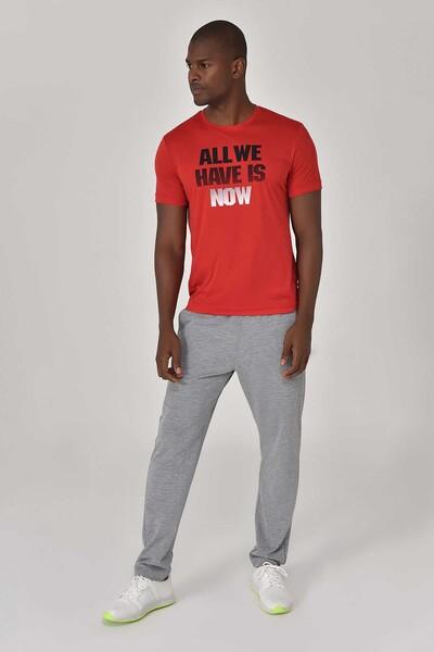 BİLCEE - Bilcee Kırmızı Erkek Antrenman T-Shirt GS-8803 (1)