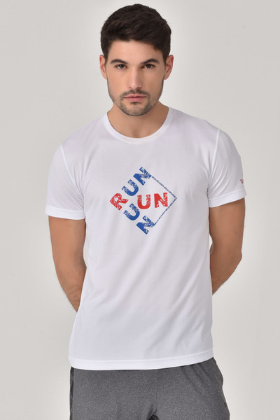 BİLCEE - Bilcee Beyaz Erkek T-Shirt GS-8805