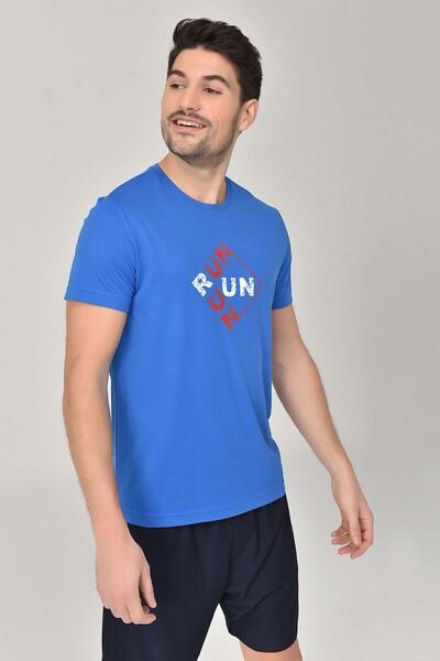 BİLCEE - Bilcee Mavi Erkek T-Shirt GS-8805 (1)