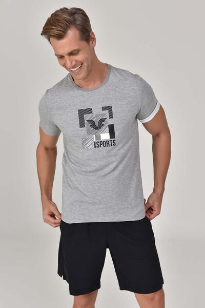 BİLCEE - Bilcee Gri Erkek T-shirt GS-8807 (1)