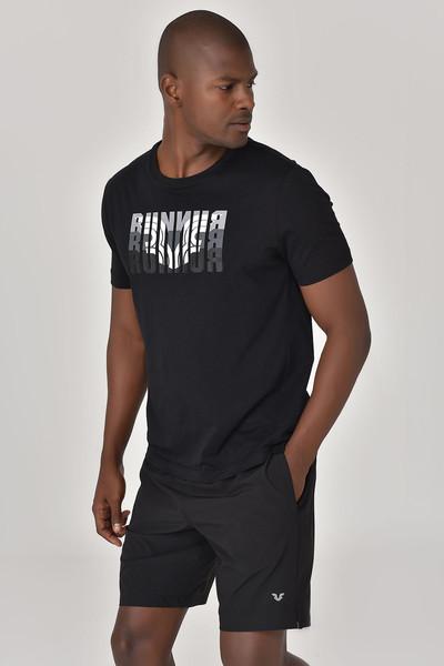 BİLCEE - Bilcee Siyah Erkek T-shirt GS-8811
