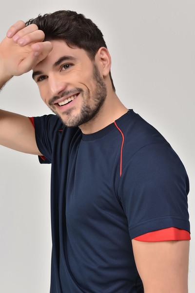 BİLCEE - Bilcee Lacivert Erkek T-shirt GS-8821 (1)