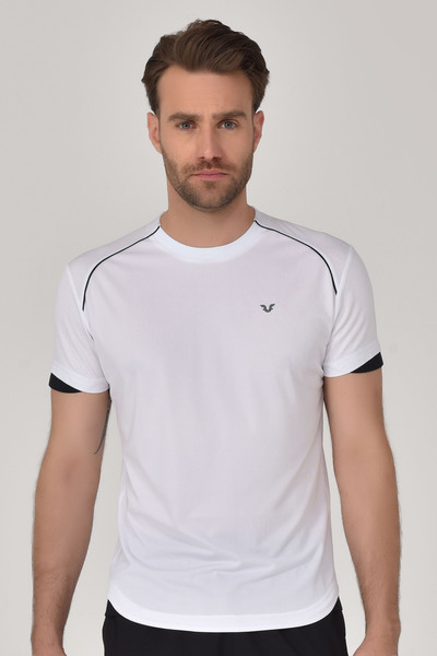 BİLCEE - Bilcee Beyaz Erkek T-shirt GS-8821