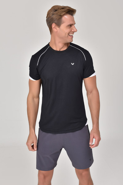 BİLCEE - Bilcee Siyah Erkek T-shirt GS-8821