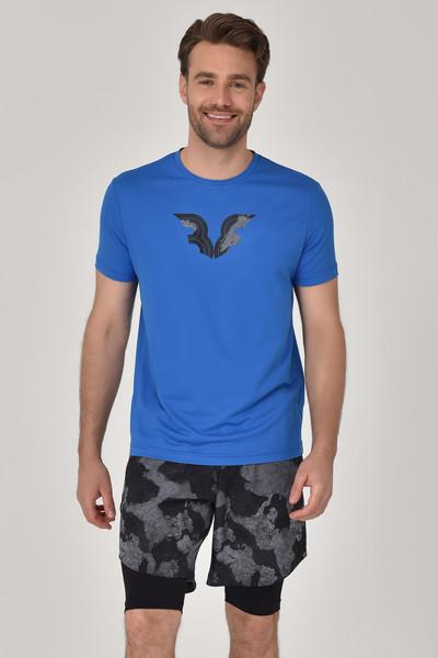 BİLCEE - Bilcee Mavi Erkek T-Shirt GS-8843