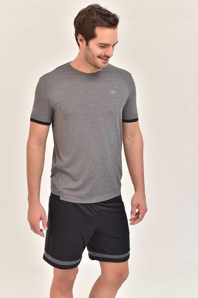 BİLCEE - Bilcee Antrasit Erkek Antrenman T-Shirt GS-8882 (1)