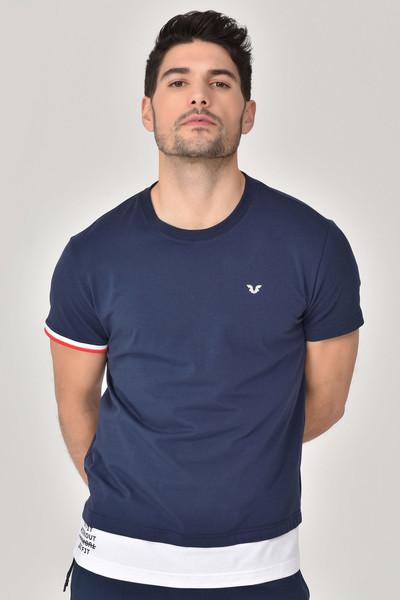 BİLCEE - Bilcee Lacivert Erkek T-Shirt GS-8887