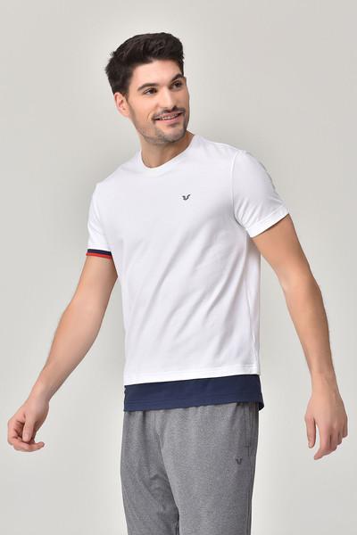 BİLCEE - Bilcee Beyaz Erkek T-Shirt GS-8887