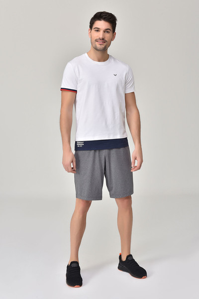 BİLCEE - Bilcee Beyaz Erkek T-Shirt GS-8887 (1)