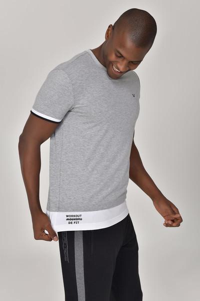 BİLCEE - Bilcee Gri Erkek T-Shirt GS-8887